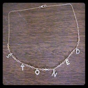 Stoned choker necklace